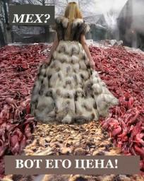 Изготовление меха - жестокое обращение с животными.